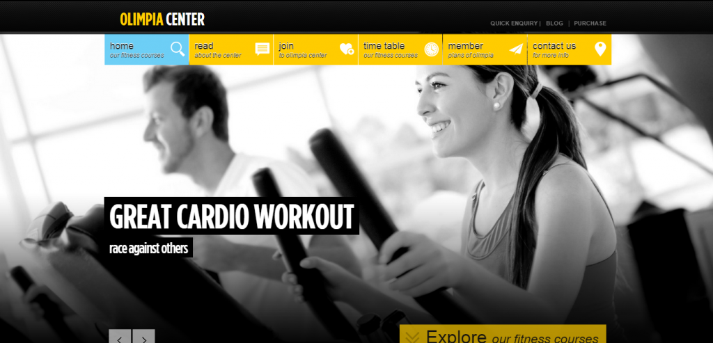 Download Sport and Fitness WordPress Themes