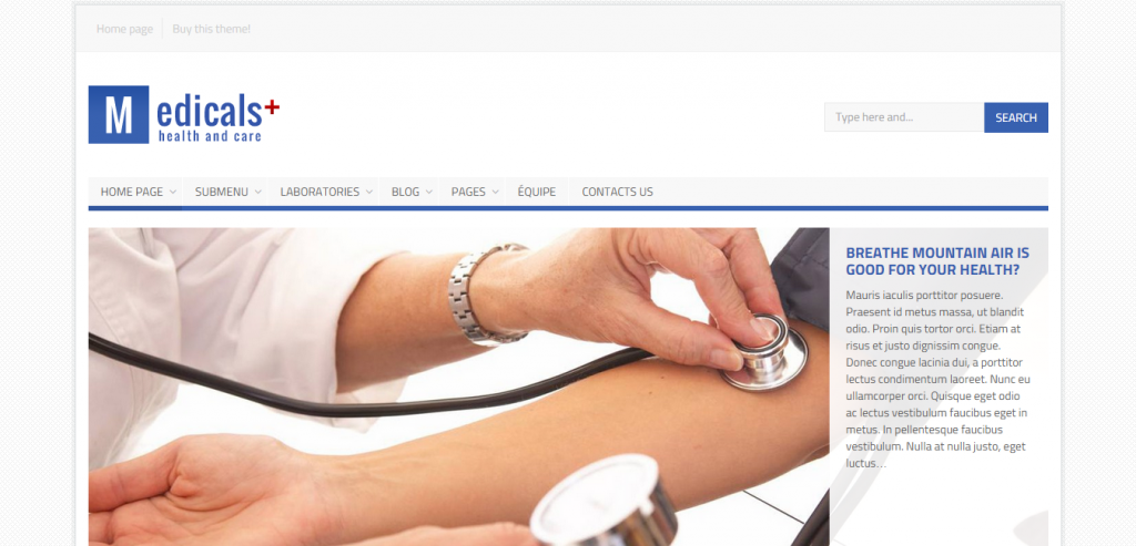 Fluid Health and Medical WordPress Theme