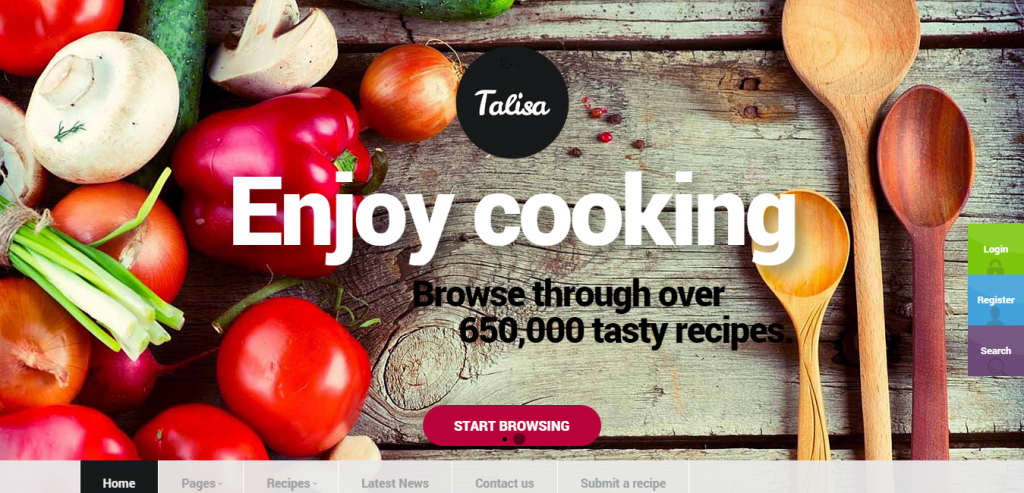 Fluid Recipe and Food WordPress Theme