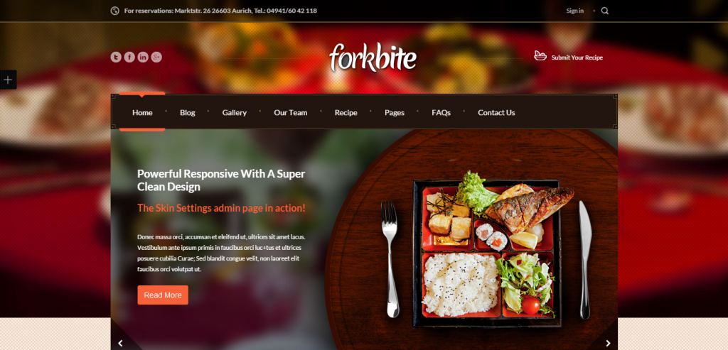 Fluid Recipe and Food WordPress Themes