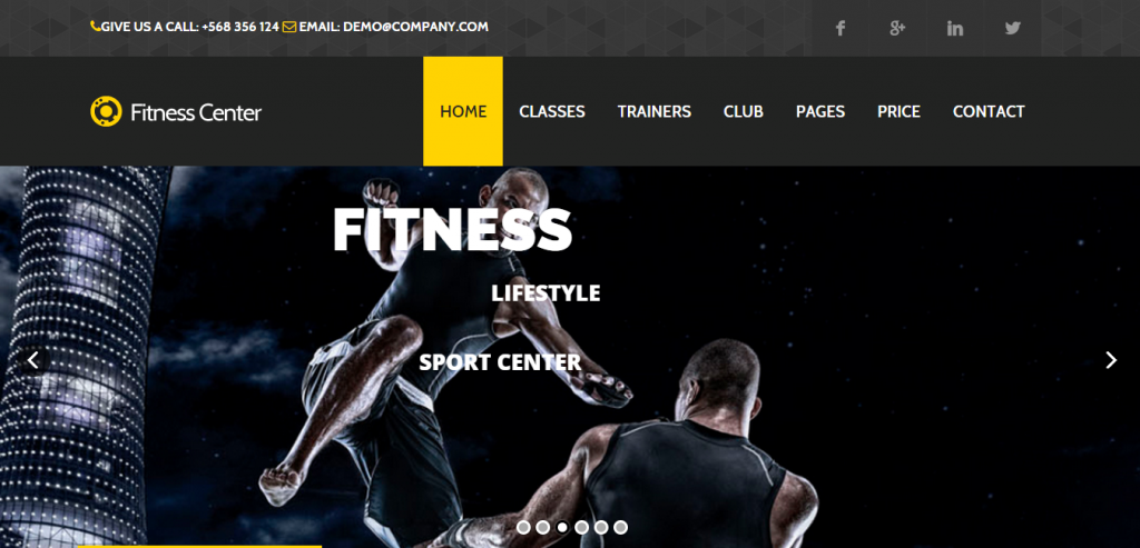 Fluid Sport and Fitness WordPress Theme