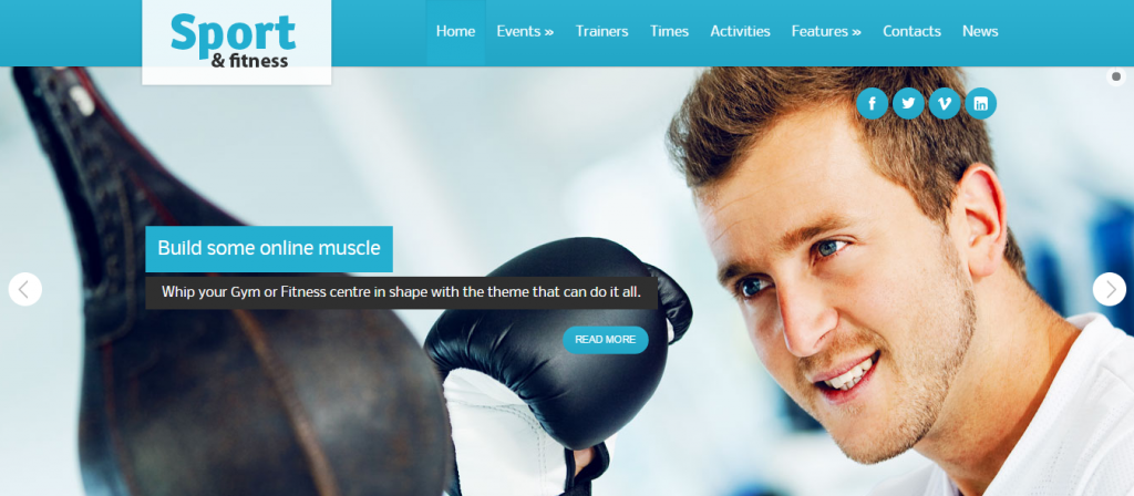 Fluid Sport and Fitness WordPress Themes