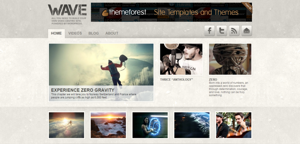 Fluid Video WordPress Themes