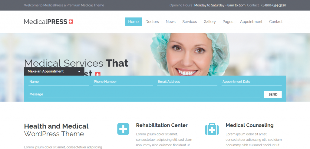 Free Medical and Health WordPress Theme