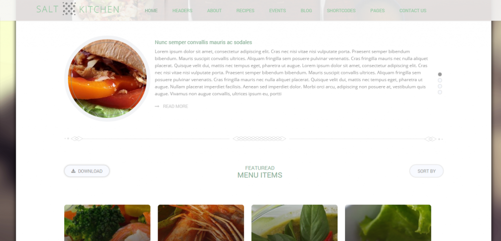 Free Recipe and Food WordPress Theme