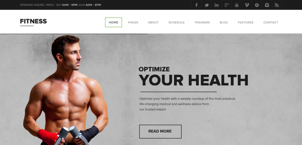 Free Sport and Fitness WordPress Theme