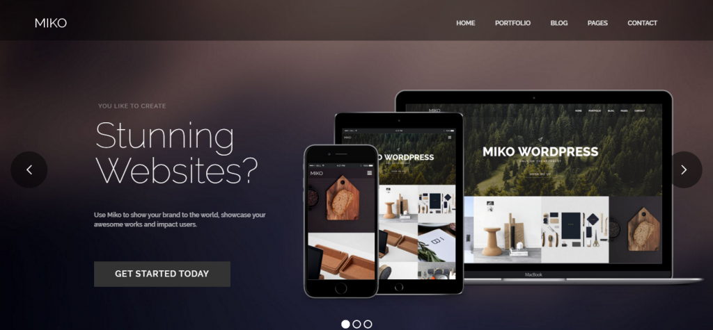 Miko Clean Business WordPress Theme