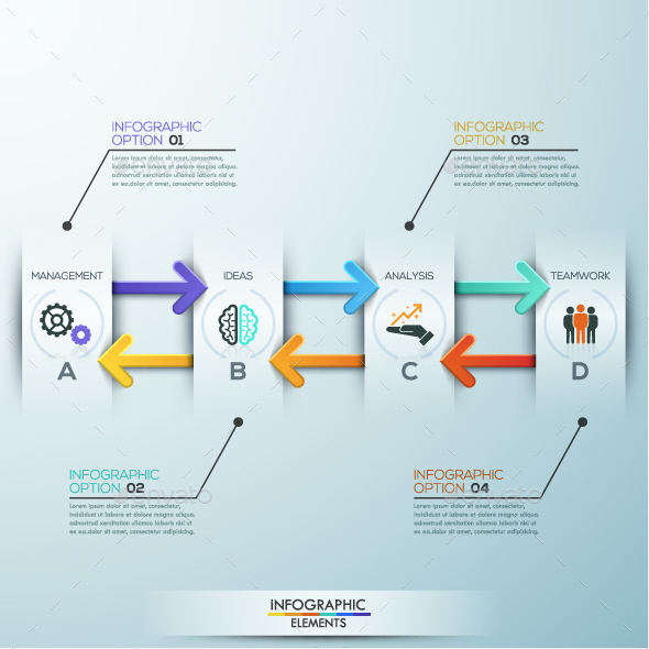 Modern Infographic Paper Arrows Template
