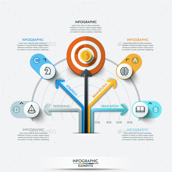 Modern Infographic Target Marketing Concept