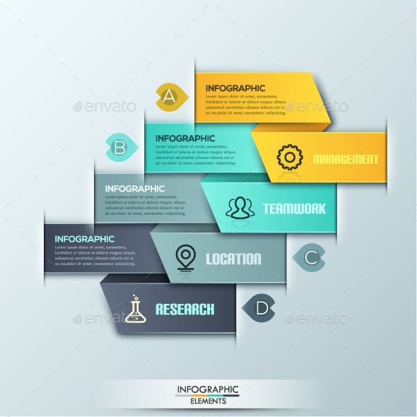 Modern Infographics Ribbon Template