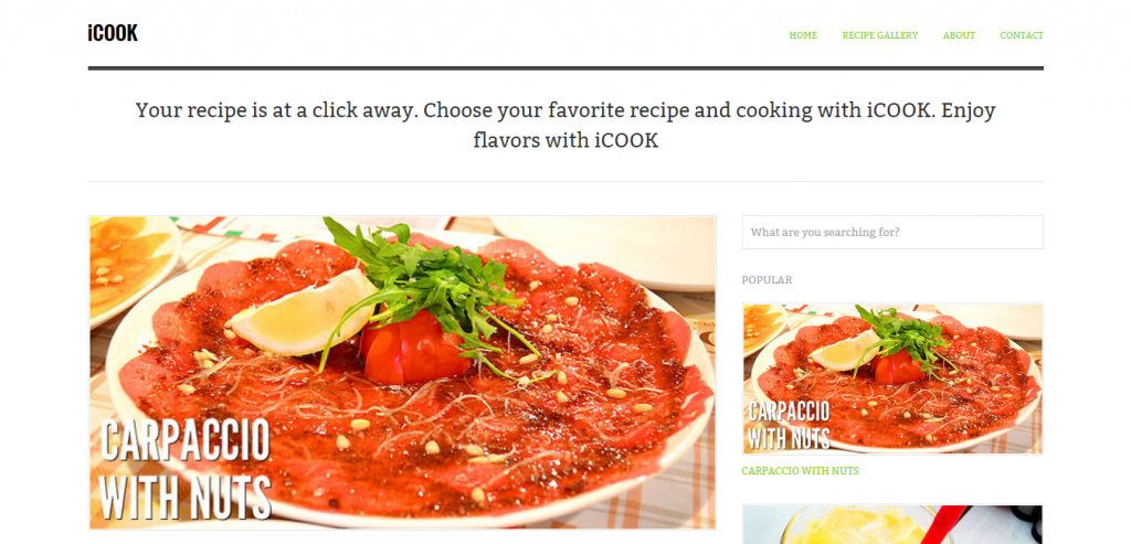 New Recipe and Food WordPress Theme