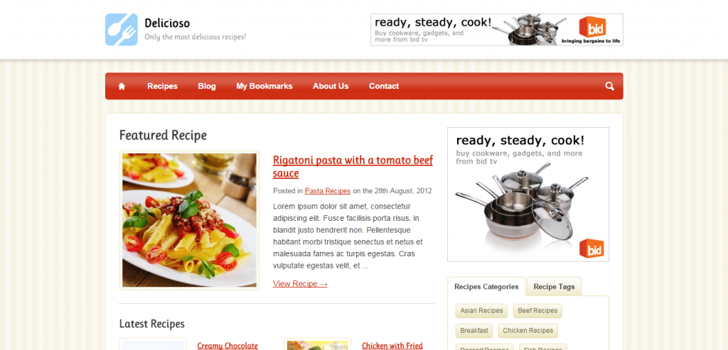 New Recipe and Food WordPress Themes