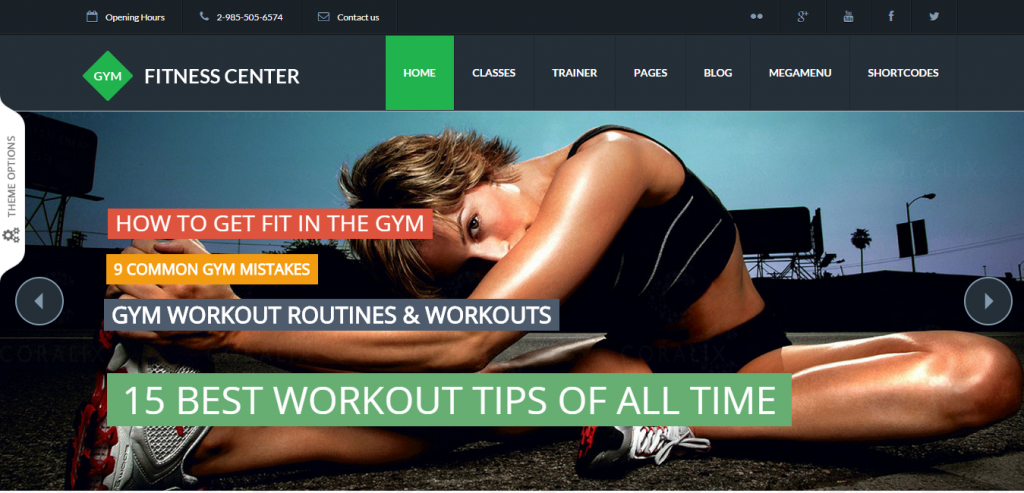 New Sport and Fitness WordPress Theme