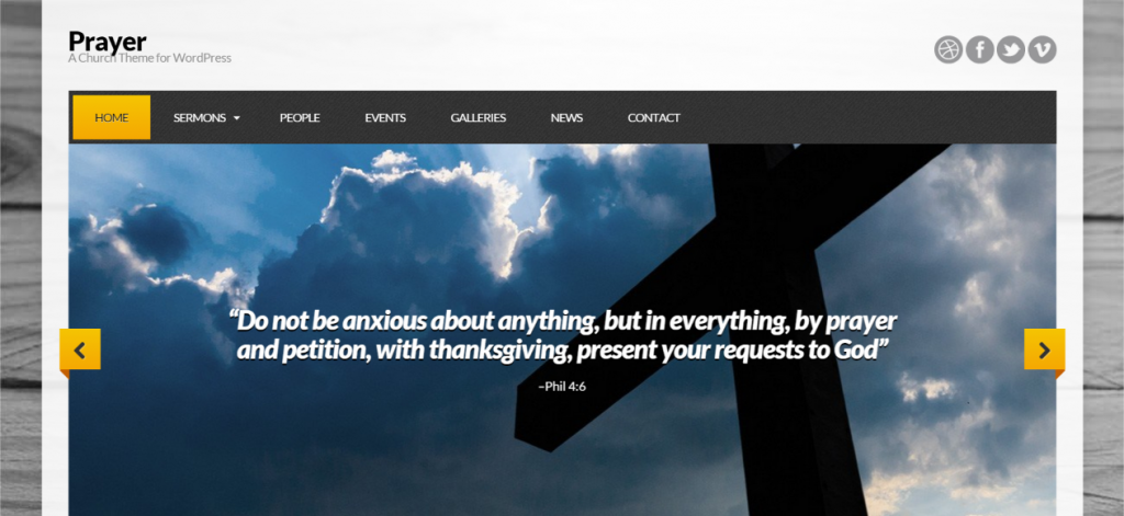 Prayer – A Church Theme for WordPress