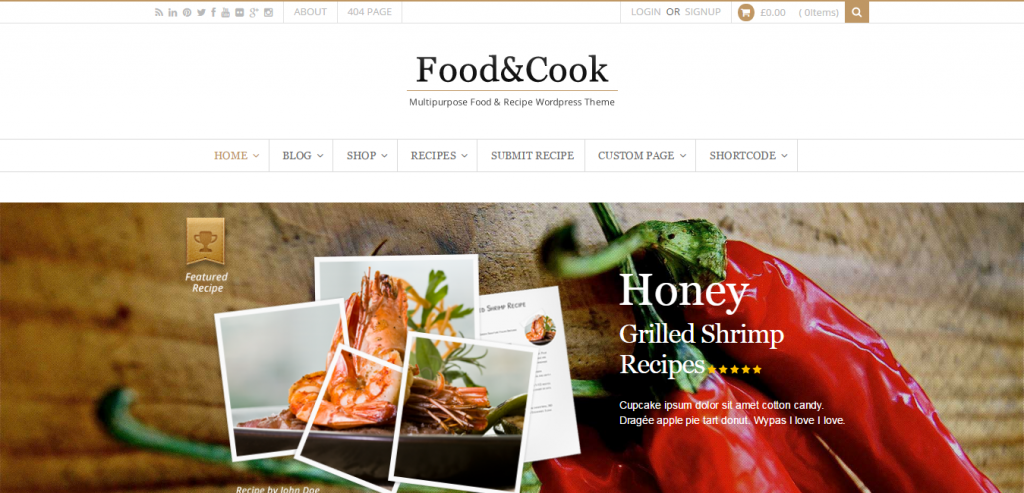 Premium Recipe and Food WordPress Themes