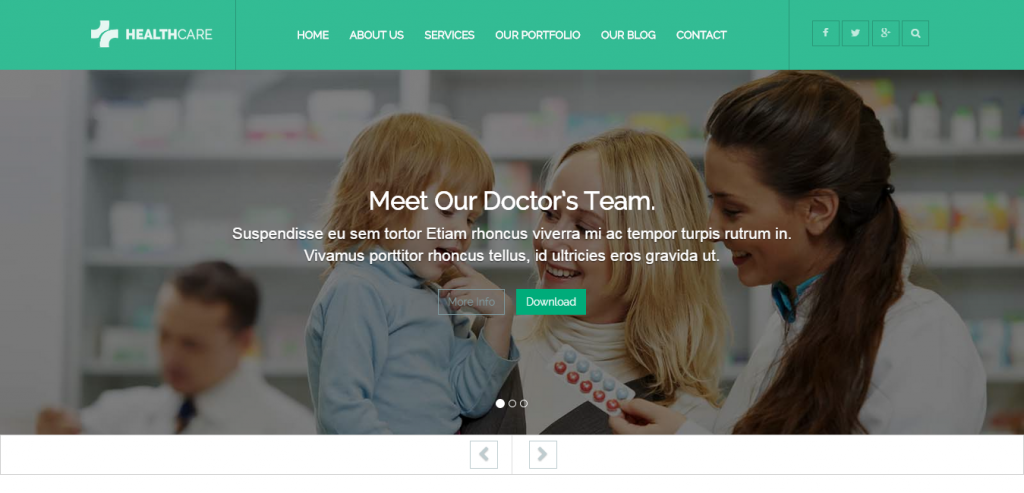 Responsive Health and Medical WordPress Theme