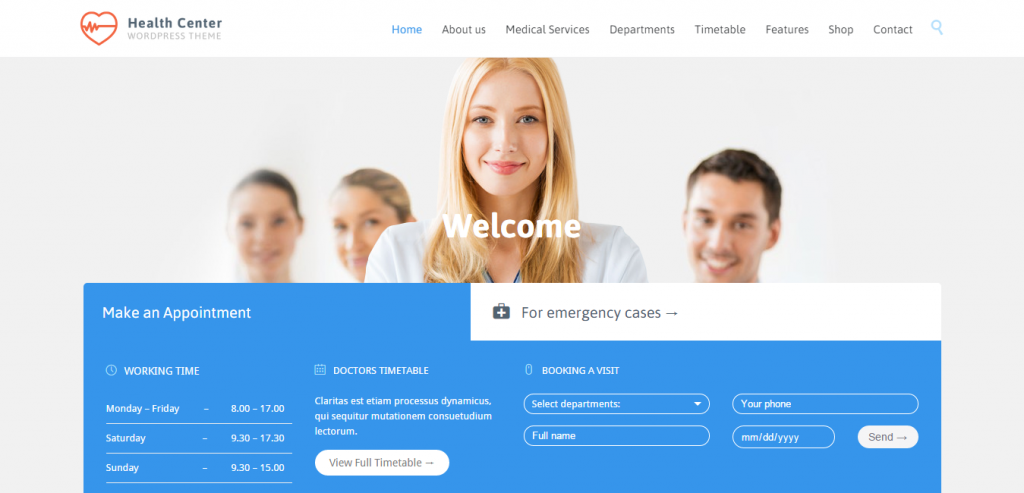 Responsive Medical and Health WordPress Theme