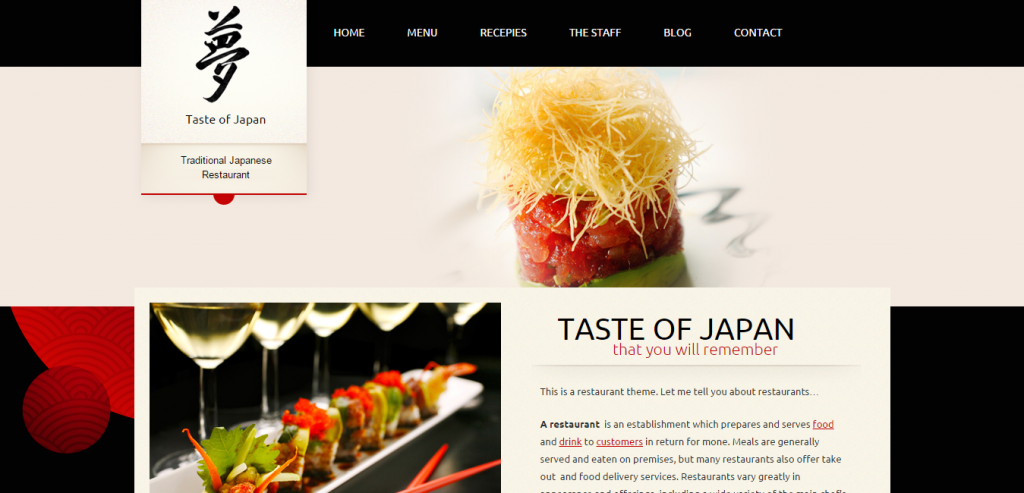 Responsive Recipe and Food WordPress Themes
