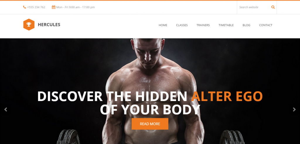 Responsive Sport and Fitness WordPress Theme