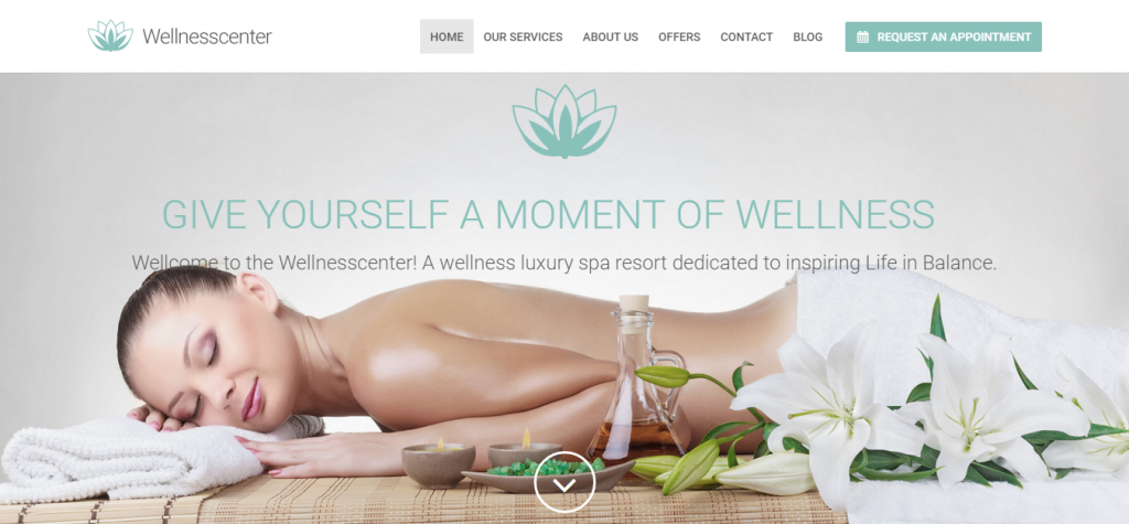 WellnessCenter Beauty Spa WordPress Theme