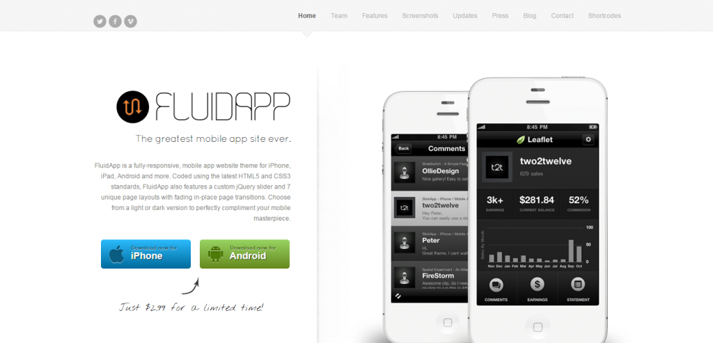 Best App Landing Page WordPresss Templates