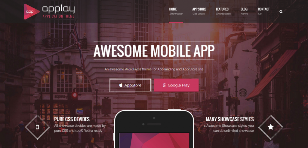 Best App Landing Page WordPresss Themes