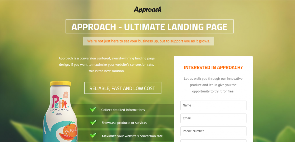 Best Instapage Landing Page Template