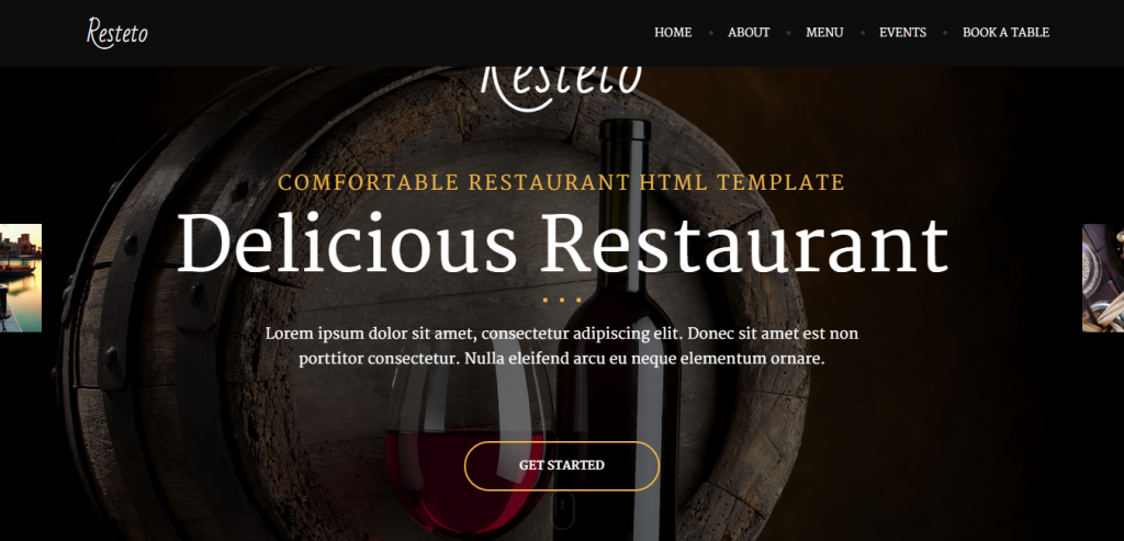 Best Restaurant HTML Template