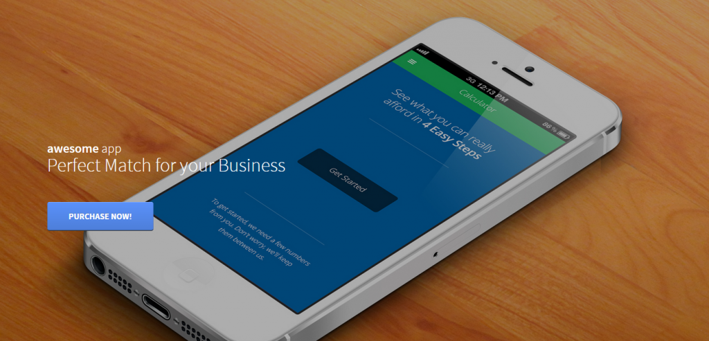 Buy App Landing Page WordPresss Theme
