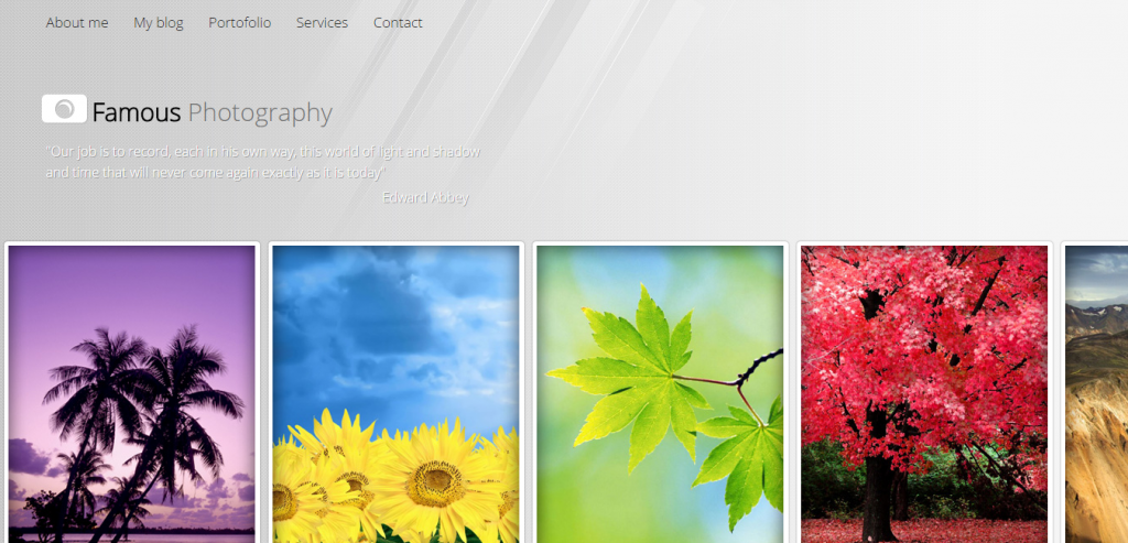 Buy HTML Photography Template