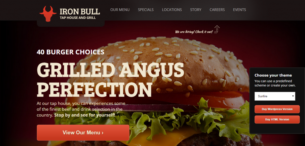 Buy Restaurant HTML Template