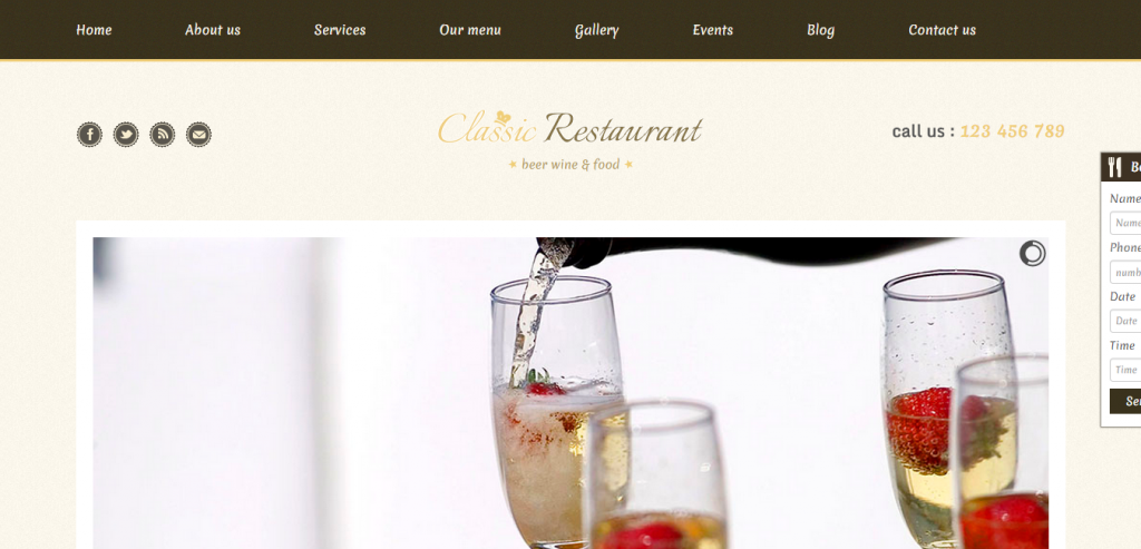 Buy Restaurant HTML Theme