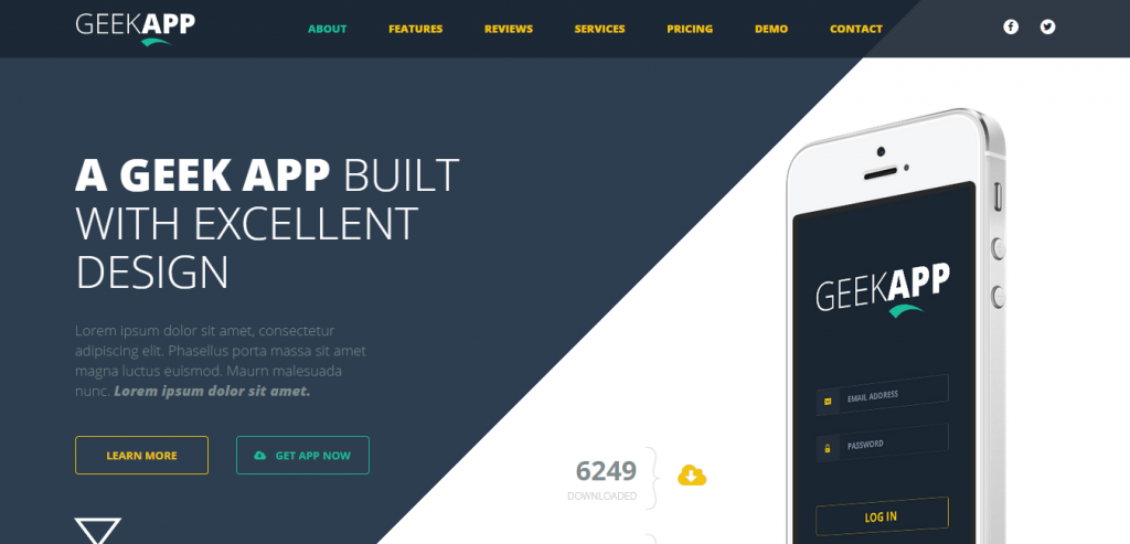Buy Simple HTML Landing Page Theme