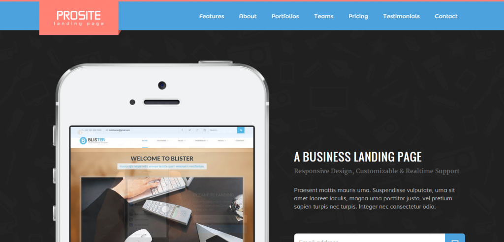 Buy Simple Landing Page HTML Templates