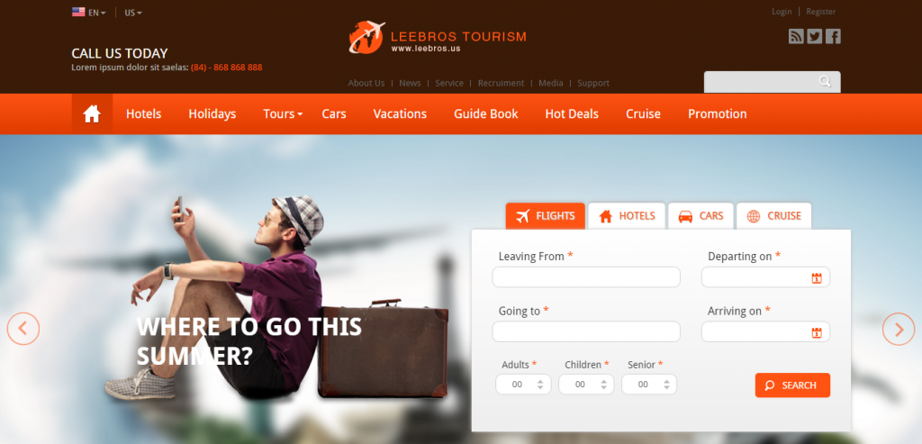 Buy Travel HTML Template