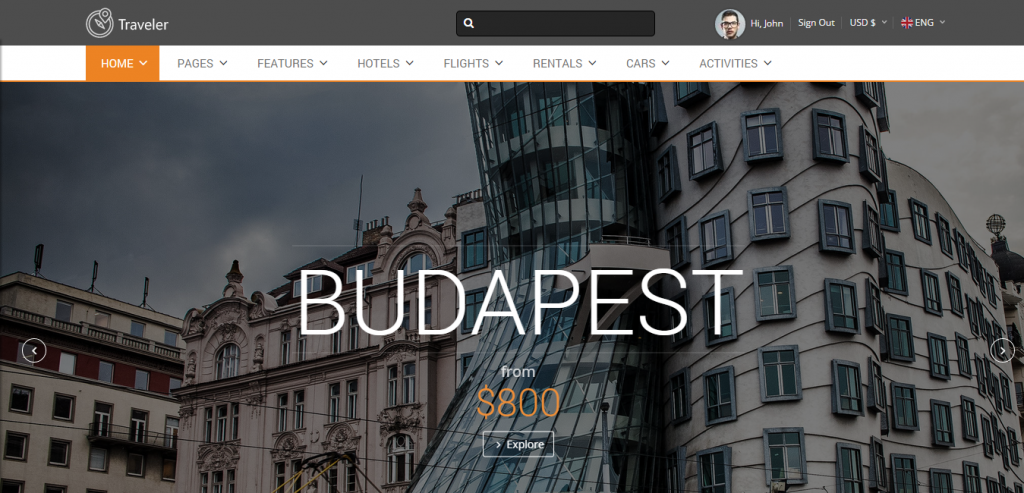 Buy Travel HTML Templates