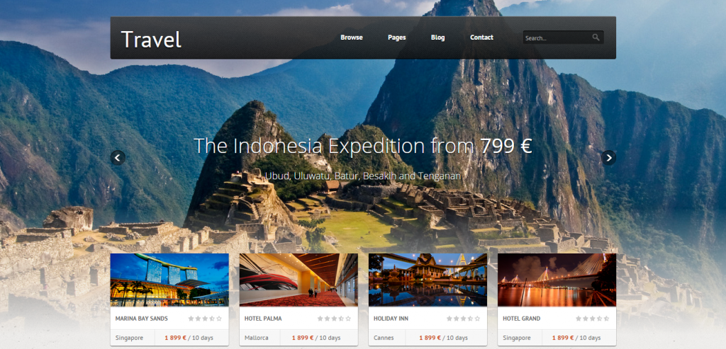 Buy Travel HTML Themes