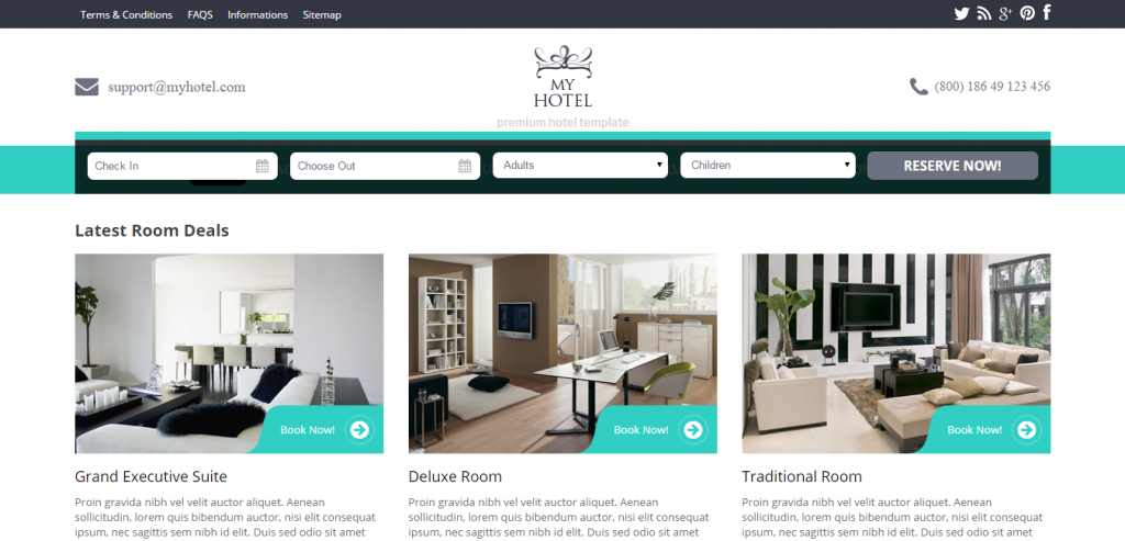 Downlaod Hotels HTML Template