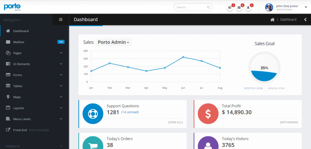 Download Bootstrap HTML Admin Template