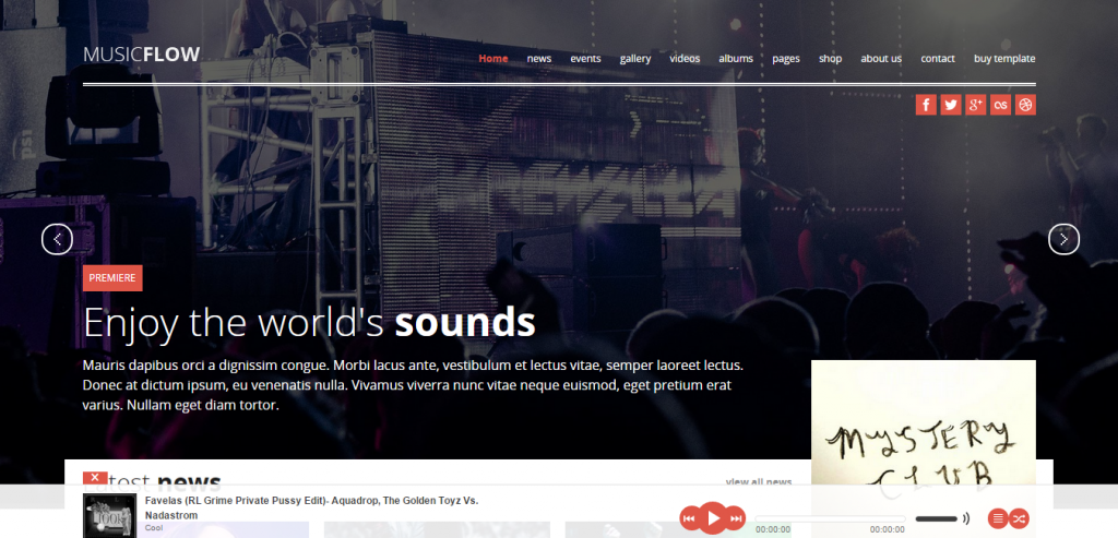 Download Music HTML Template