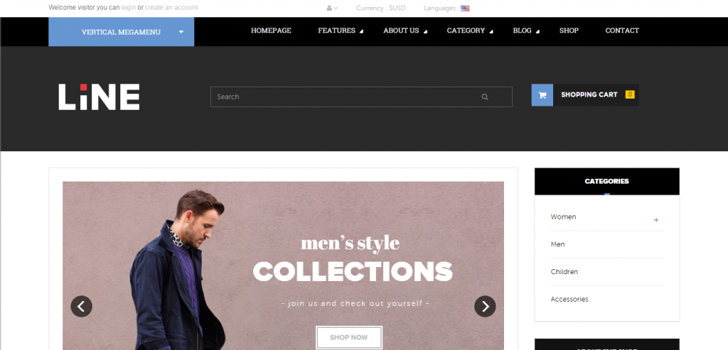 Download PrestaShop Responsive Templates