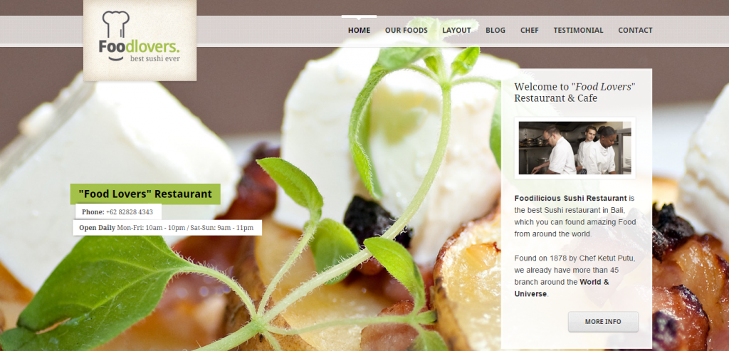 Download Restaurant HTML Templates