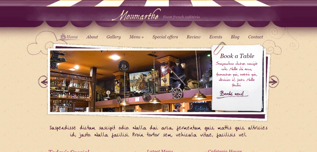 Download Restaurant HTML Theme