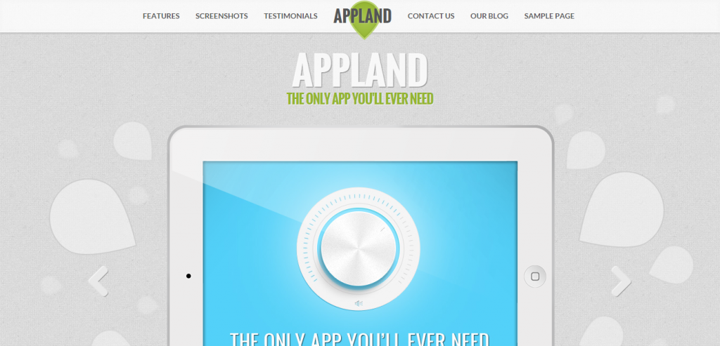 Fluid App Landing Page WordPresss Theme