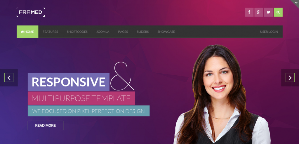 Fluid Business Joomla Templates