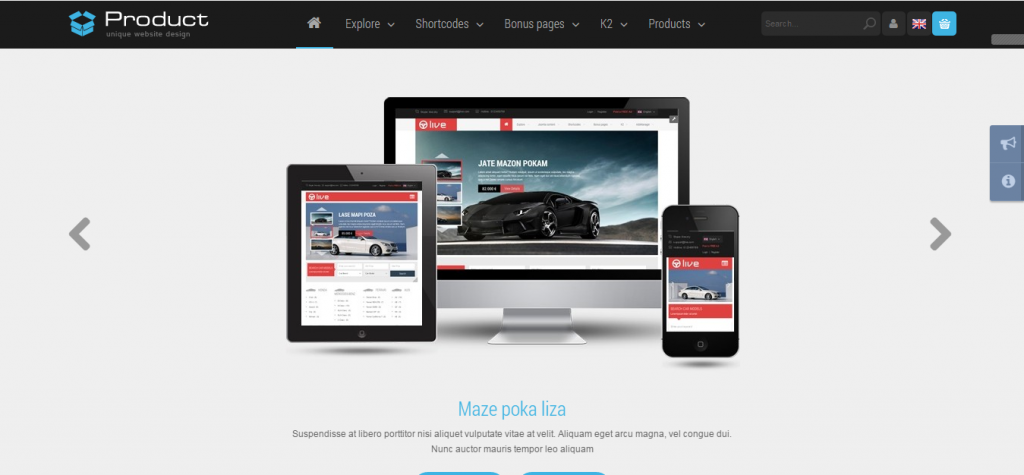 Fluid Business Joomla Themes
