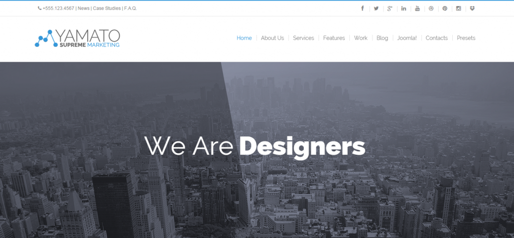Fluid Joomla Business Templates