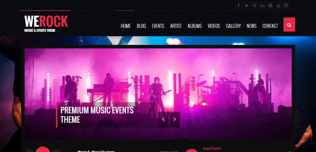 Fluid Music HTML Template