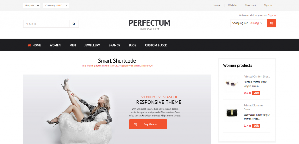 Fluid PrestaShop Responsive Theme