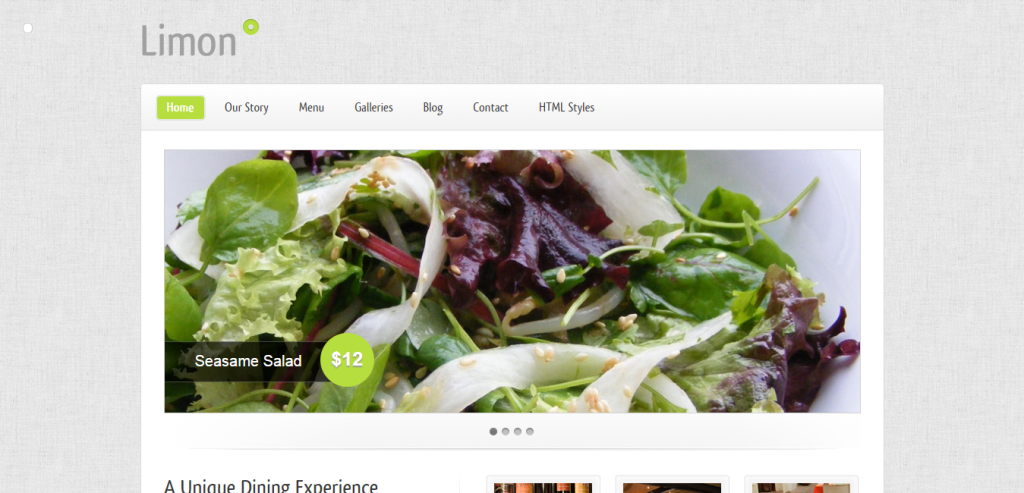 Fluid Restaurant HTML Templates